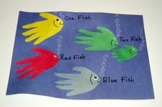 Dr. Seuss One Fish,Two Fish, Red Fish, Blue Fish Craft from Kiboomu