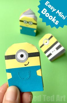 Easy Paper Minion Notebook DIY - Red Ted Art's Blog