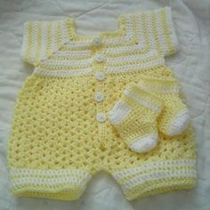 newborn boy romper crochet free pattern - Google Search