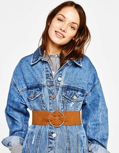 Wide cut-work belt - Belts - Bershka United Kingdom