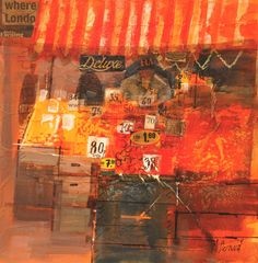 Born in Kent, Mike Bernard is now based in Devon, UK, where he creates landscapes that incorporate acrylic paint and mixed media collage elements. The resulting works focus primarily on landscapes … Mixed Media Collage, Collage Art, House Painting, Painting & Drawing, Mike Bernard, Collages, Fruit Painting, Creative Art, Art Boards