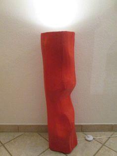 Nr.11, Baumstamm Rot, 27cm x 25cm x 91cm, Deckenfluter Rot, Stehlampe Rot in Möbel & Wohnen, Beleuchtung, Lampen | eBay