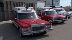 Old ambulances roll back into action for salute to Alberta paramedics.