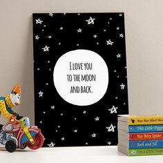 Placa decorativa - To the moon