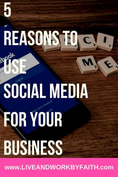 Five reasons social media will benefit your business.