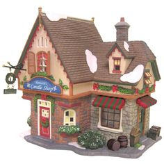 "Heartland Village 8"" Porcelain Village Building Ronette's Candle Shop ($31.99 Ace Hardware)"