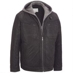 Wilsons Leather Suede Hooded Jacket