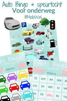Auto Bingo en speurtocht Voor onderweg. Geschikt voor alle leeftijden. BMelloW.nl