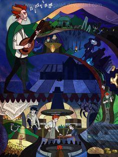 """Kvothe's Story"" by Beleg / belegilgalad.deviantart.com   LIKE Eolian Tavern on Facebook at www.facebook.com/eoliantavern"