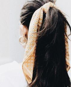 bandana hair | cute long hair updos