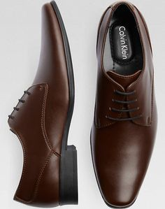 Calvin Klein Brodie Brown Oxfords Size 11.5 or 12 $76.99