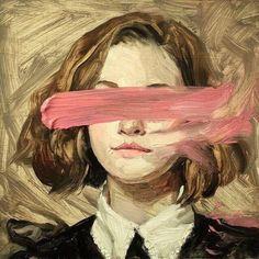 Imagem de art, girl, and pink