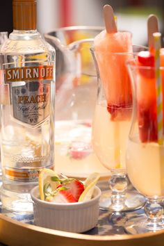 Beachside Peach Vodka Poptails