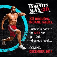 Get your Insanity Max 30 DVD workout today! See amazing results in only 30 minutes a day. Insanity Program, Shaun T Insanity, Insanity Workout, Shaun T Workouts, New Beachbody Programs, Beachbody Insanity, Tabata Training, Sport, Motivation
