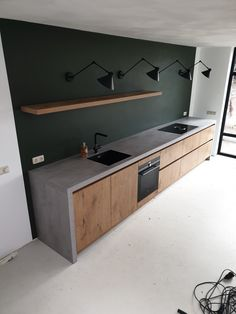 Open Plan Kitchen Living Room, Kitchen Room Design, Home Room Design, Modern Kitchen Design, Home Decor Kitchen, Interior Design Kitchen, Kitchen Furniture, House Design, Beton Design