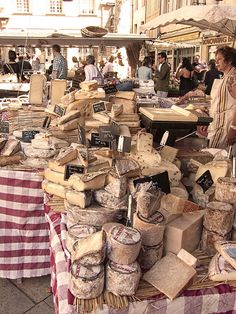 #Cheese at #Aix_en_Provence, #France. Get some great trip ideas and start planning your next trip! See More: RoutePerfect.com