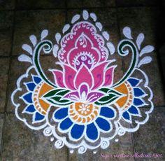 New Flowers Painting Acrylic Simple Beautiful Ideas Rangoli Designs Latest, Simple Rangoli Designs Images, Latest Rangoli, Rangoli Designs Flower, Rangoli Border Designs, Rangoli Patterns, Colorful Rangoli Designs, Rangoli Ideas, Rangoli Designs Diwali