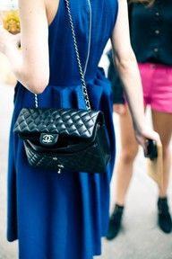 The blue is amazing and who doesn't love a chanel purse