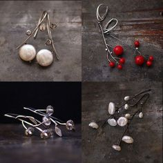 flower earrings . white fresh water pearl . sterling by ewalompe