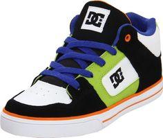 DC Kids Radar Sneaker (Little Kid/Big Kid),Black/White/Orange,6.5 « Shoe Adds for your Closet