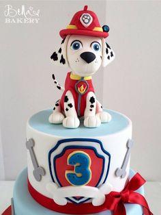 Card Birthday, Birthday Greetings, Birthday Ideas, Happy Birthday, Fire Engine Cake, Torta Paw Patrol, Paw Patrol Christmas, Paw Patrol Birthday Theme, Toddler Birthday Cakes