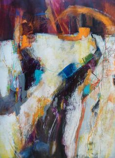 Coming Through the Rye by Ruth Armitage - down on the farm series abstract aerial landscape