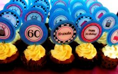 1950's Cupcake Toppers