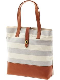Fossil Austin Striped Canvas Tote- all I've ever wanted in a bag!!!