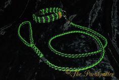 "Paraknotter #Handmade #Paracord #Dogs #Dogcollar #Dogleash ""Green Lizard"""
