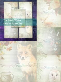 Printable Letters, Writing Paper, Page Design, Your Image, Note Cards, Witch, Fox, Printables, Lettering
