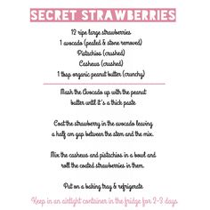 Secret strawberries