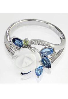 Effy collection 0.11 DWT Diamond 14k White Gold Ring