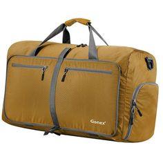 68d9bee7fafd Travel Duffel Bag Foldable Large Gym Bags 60 Liter Water Resistant Camping  Sport  FoldableTravelDuffelBag