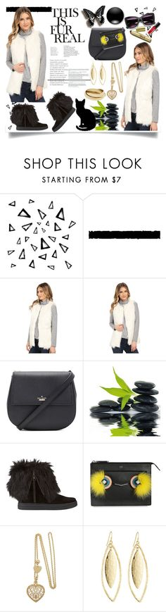 """""""Faux Fur"""" by jeneric2015 ❤ liked on Polyvore featuring Nika, Tim Holtz, Kate Spade, Prada Sport, Fendi and Fragments"""