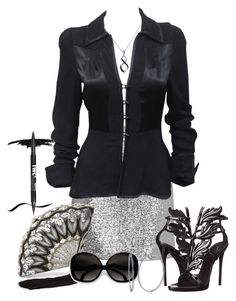 """Untitled #376"" by ay-cr on Polyvore featuring Topshop, Ossie Clark, Giuseppe Zanotti, Judith Leiber, NYX and BERRICLE"