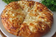 Cheese Bread, Greek Recipes, Finger Foods, Lasagna, Recipies, Food And Drink, Pizza, Cooking, Healthy