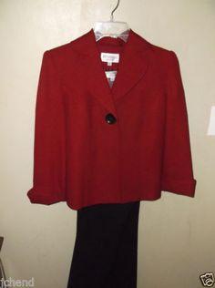 $3.99 Studio-I-Petite-6-Womens-Top-Shirt-Jacket-Pants-Outfit-Set-6P-3-Pc-Suit-Career