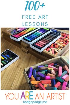 100 Free Art Lessons for All Ages Chalk Pastel Art, Chalk Pastels, Lessons For Kids, Art Lessons, Art Curriculum, Art Courses, Nature Study, Art School, School Days