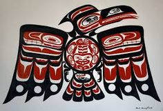 Tlingit art for totem pole. Haida Tattoo, Inuit Kunst, Inuit Art, Native Art, Native American Indians, Native Americans, Tribal Bird Tattoos, Native Tattoos, Le Totem