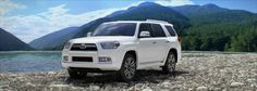 Toyota 4Runner...white, tan leather interior, Bose...oh, yeah