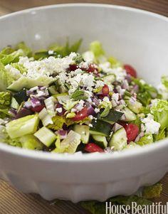 A refreshing Summer Calamari Salad by Tyler Florence. Photo: John Lee. housebeautiful.com #recipe #greek_salad #salad_recipe #mediterranean_dish