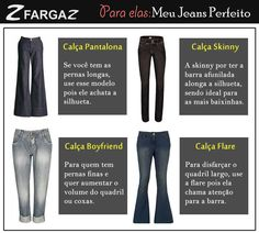 Dependendo o modelo de jeans ele pode favorecer ou não o nosso tipo de corpo. Hoje trouxemos dicas para as mais altas, baixas, quadril largo ou estreito. Encontre seu jeans perfeito!