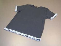 Looking to embellish your plain tee shirt? Use this free crochet pattern to add a lacy edge on each sleeve. This will turn any plain tee into something fun and fancy. This is perfect for the summer months.