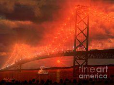 """AMBASSADOR BRIDGE"" by Artist Michael Rucker"