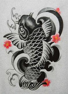 鯉 刺青 タトゥー デザイン fish tattoo design