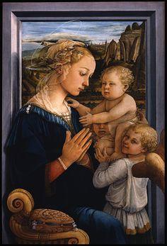 La Lippina (La Vierge à l'Enfant avec deux anges)  1465 - Fra Filippo Lippi (Galerie des Offices, Florence)