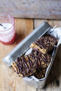Milk Chocolate Dipped Zucchini Granola Bars   halfbakedharvest.com @hbharvest