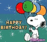 Snoopy Happy Birthday to meeee :) Happy Birthday Snoopy Images, Peanuts Happy Birthday, Happy Birthday Clip Art, Birthday Greetings For Facebook, Cute Birthday Wishes, Snoopy Birthday, Birthday Clips, Happy Birthday Funny, Snoopy Love