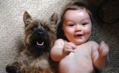 This excited duo.   26 Kids Who Look Like Their Doggy BFFs