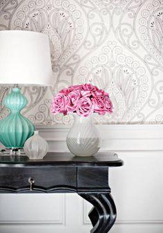 Thibaut- Artisian- Rio- Black & White shop.wallpaperconnection.com